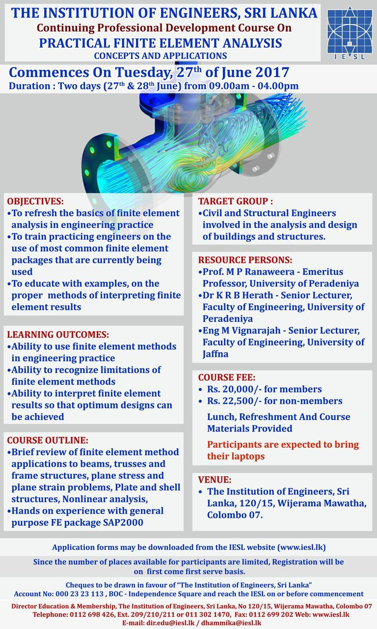 The Institution of Engineers Sri Lanka - CPD COURSE